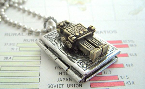 Robot Locket Necklace
