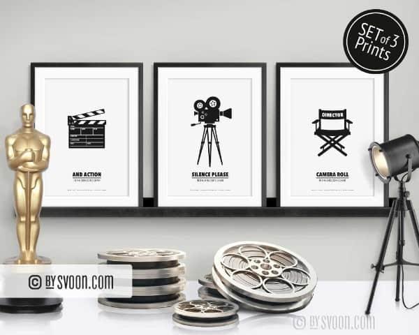 Movie Prints- Set of 3