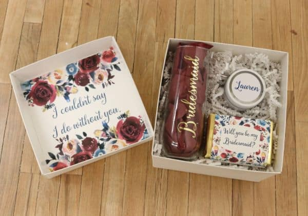 Maid of Honor Proposal Box