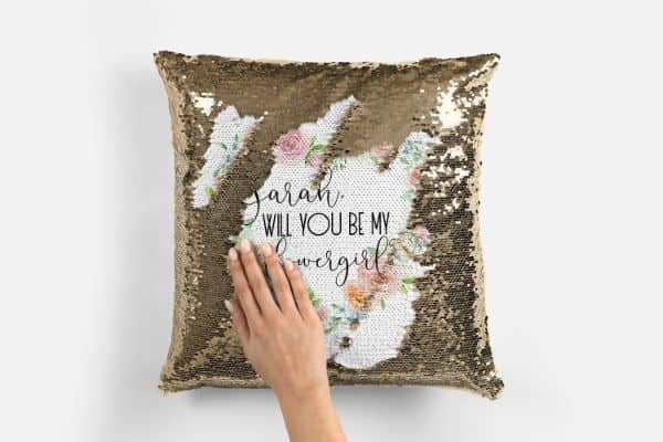 Flip Sequin Proposal Pillow
