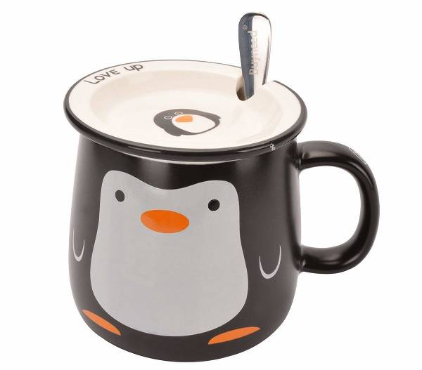 Cute Penguin Porcelain Mug (Lid and Spoon included) 6bb91f825
