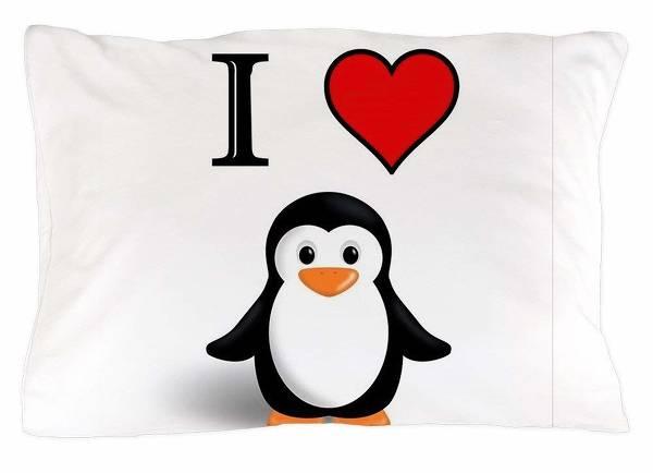 "51ed04f5a CafePress 20""x30"" Penguin Pillow Case"