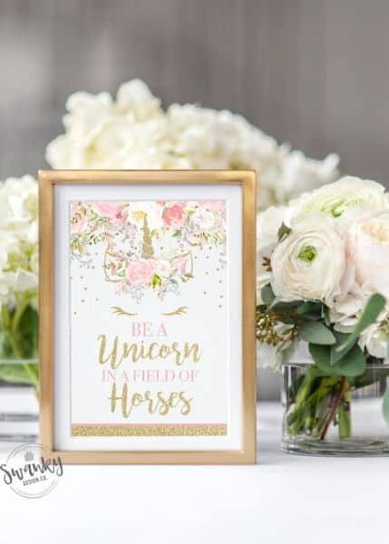 Printable Unicorn Sign