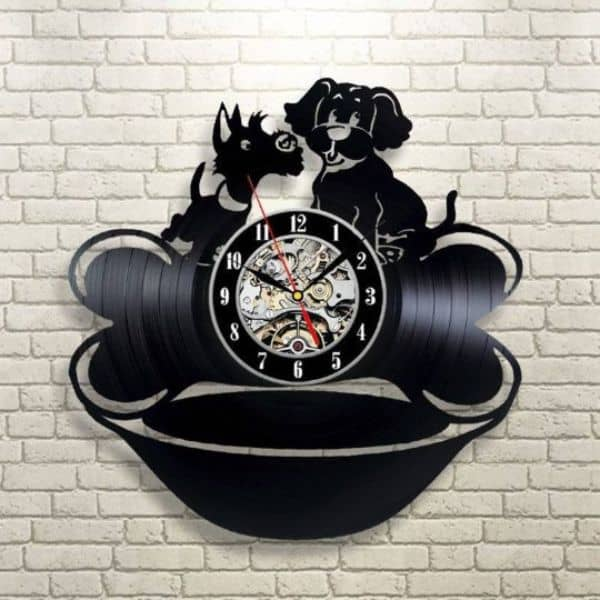 Dogs Wall Decal Clock