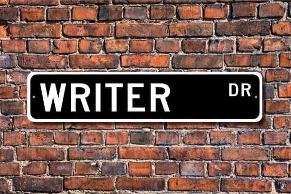 Writer's Sign